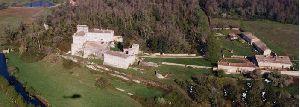 Vue aérienne du château de La Tranchade